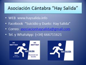 """Asociación Cántabra para la Prevención del Suicidio y Apoyo en el Duelo """"Hay Salida"""""""